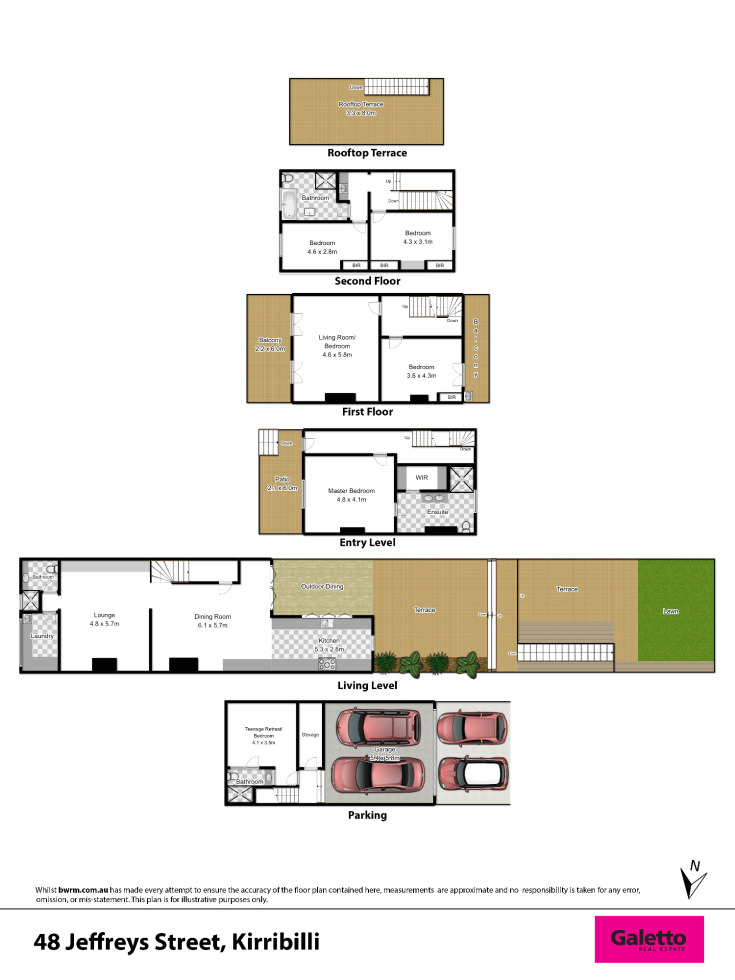 Galetto real estate for lease 48 jeffrey street for Kirribilli house floor plan
